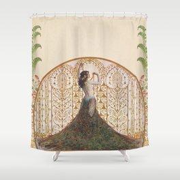 Ornate Art Deco Shower Curtain