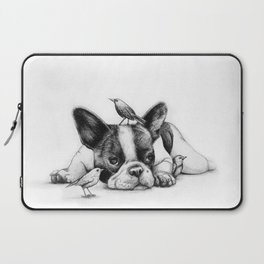 Frenchie and the Birds Laptop Sleeve