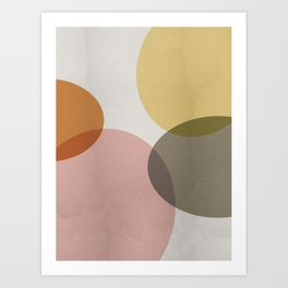 Pastel Shapes II Art Print