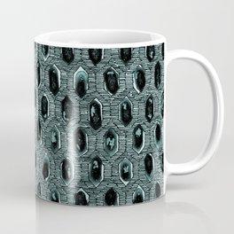 Watercolour Blackwork: 'Lozenge' Burnt Turquoise 1 (dark) Coffee Mug