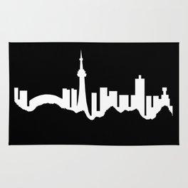 Toronto Skyline - Black Rug