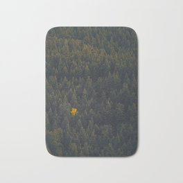 Modern Landscape Photography Single Autumn Tree Pine tree Forest Green Trees Yellow Focal Point Bath Mat