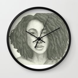 Corinne Bailey Rae Pencil Portrait Wall Clock