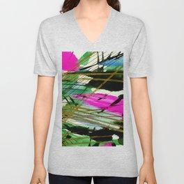 Abstract Joy 3 by Kathy Morton Stanion Unisex V-Neck