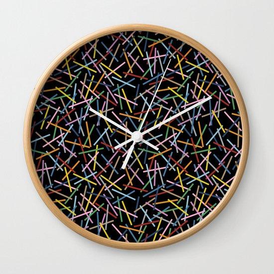 Kerplunk Black 2 Wall Clock
