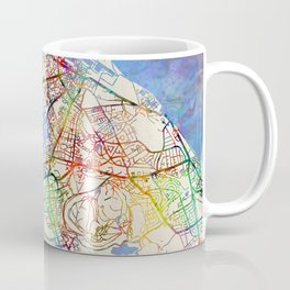 Edinburgh Street Map Coffee Mug
