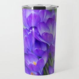 Violet Crocuses Travel Mug
