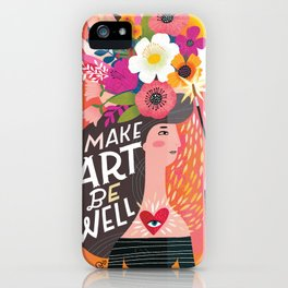 Work From Home Happys- Make Art Be Well iPhone Case