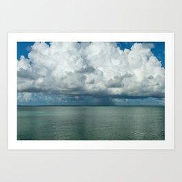 Heavy clouds Art Print