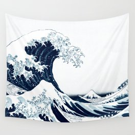 The Great Wave - Halftone Wall Tapestry
