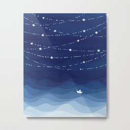 Garland of Stars IV, night sky Metal Print