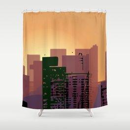 Sunset over San Francisco Shower Curtain