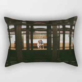 New York Subway Station: Christopher Street Sheridan Square Rectangular Pillow