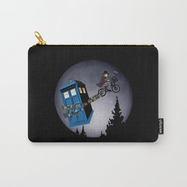 Funny cute 4th Doctor fly with bicycle iPhone 4 4s 5 5c, ipod, ipad, tshirt, mugs and pillow case Carry-All Pouch