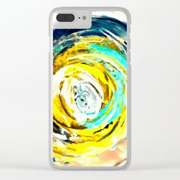 Yellow twister Clear iPhone Case