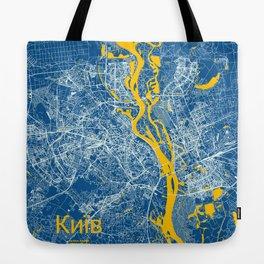 Kiev, Ukraine street map Tote Bag