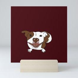 Celia Mae The Pit Bull Mini Art Print
