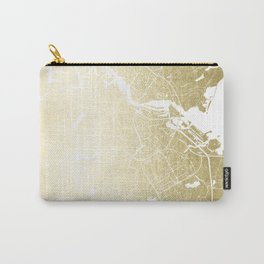 Amsterdam Gold on White Street Map Carry-All Pouch