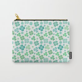 Green Clover Pattern Carry-All Pouch