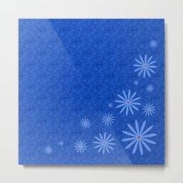 Fleurs Bleues Metal Print