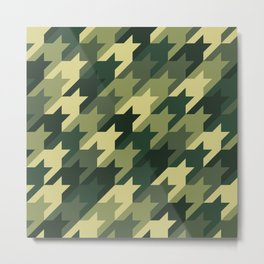 Camouflage houndstooth Metal Print