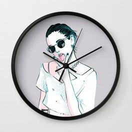 Ride 'Em On Down Wall Clock