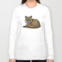 kit king Long Sleeve T-shirts featuring Fox Kit by ZHField