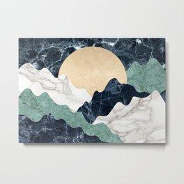 Marble mountain landscape Metal Print