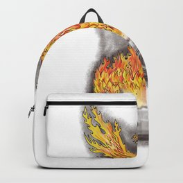 Phoenix Rising Over Game Controller Tattoo Backpack