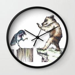 The Bird vs. The Bear Wall Clock