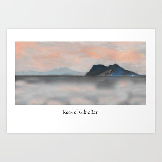 Rock of Gibraltar Art Print