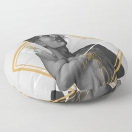 A HEART OF GOLD Floor Pillow