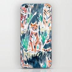Sitting Tigers iPhone & iPod Skin
