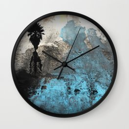 Palm View Grunge Wall Clock