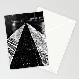 Wet asphalt. Stationery Cards
