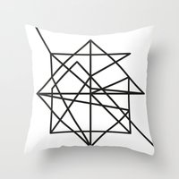 the wire Throw Pillows featuring Wire by FLATOWL