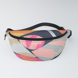 Bright Paper Cut Shapes Fanny Pack