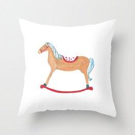 Horse Illustration Throw Pillow