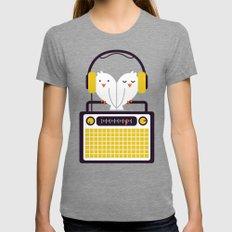 Radio Mode Love Womens Fitted Tee MEDIUM Tri-Grey