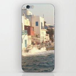 Mykonos sunset iPhone Skin