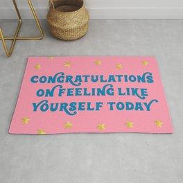 Congratulations on Feeling Like Yourself Today Rug