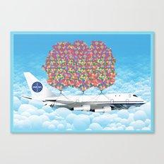 Happy Plane Canvas Print