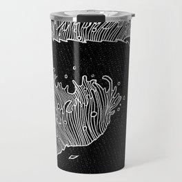 Black crocodile Travel Mug