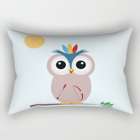 Be brave with owl Rectangular Pillow