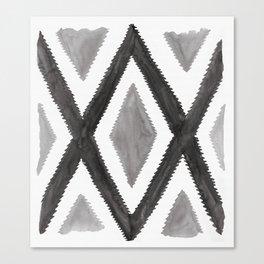 Del Rio Watercolor in Black and White Canvas Print