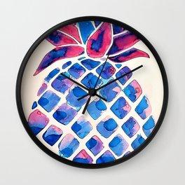 Summer Pineapple #society6 #spring Wall Clock