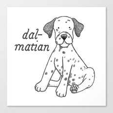 Dog Breeds: Dalmation Canvas Print