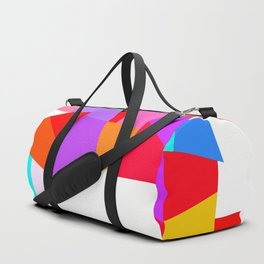 Happy colourful geometric pattern Duffle Bag