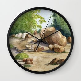 A Walk In the Arboretum Wall Clock