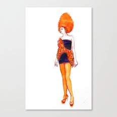 Fashion Illustration – Carlotta Actis Barone S/S 2013 Canvas Print